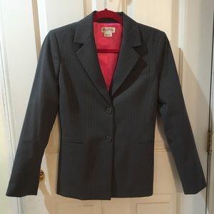 Michael by Michael Kors Gray Pink Pinstripe Jacket